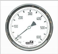 "6"" FA Series Large Dial Face Liquid Filled Pressure Gauge"