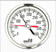 "4.5"" FA Series Liquid Filled Duplex Gauge"