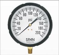 """4.5"""" Span Liquid Filled Pressure Gauge"""