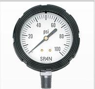 """2.5"""" Span Liquid Filled Pressure Gauge"""