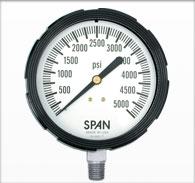 """3.5"""" Span Liquid Filled Pressure Gauge"""