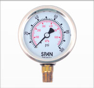 63mm Span Stainless Case Liquid Filled Pressure Gauge